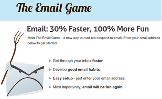 Screenshot of The Email Game