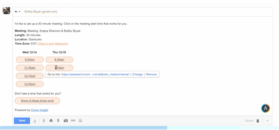 Screenshot of Assistant.to