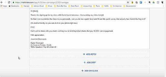 Mailshake messaging screenshot