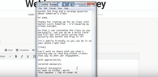Webinar outreach email sample