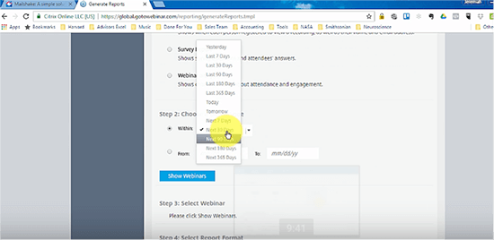 Go to Webinar screenshot