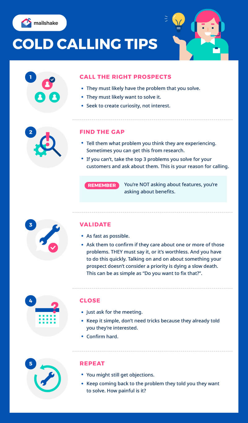 Cold Calling Tips Infographic