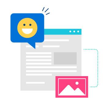 tip: use gifs, emojis, images