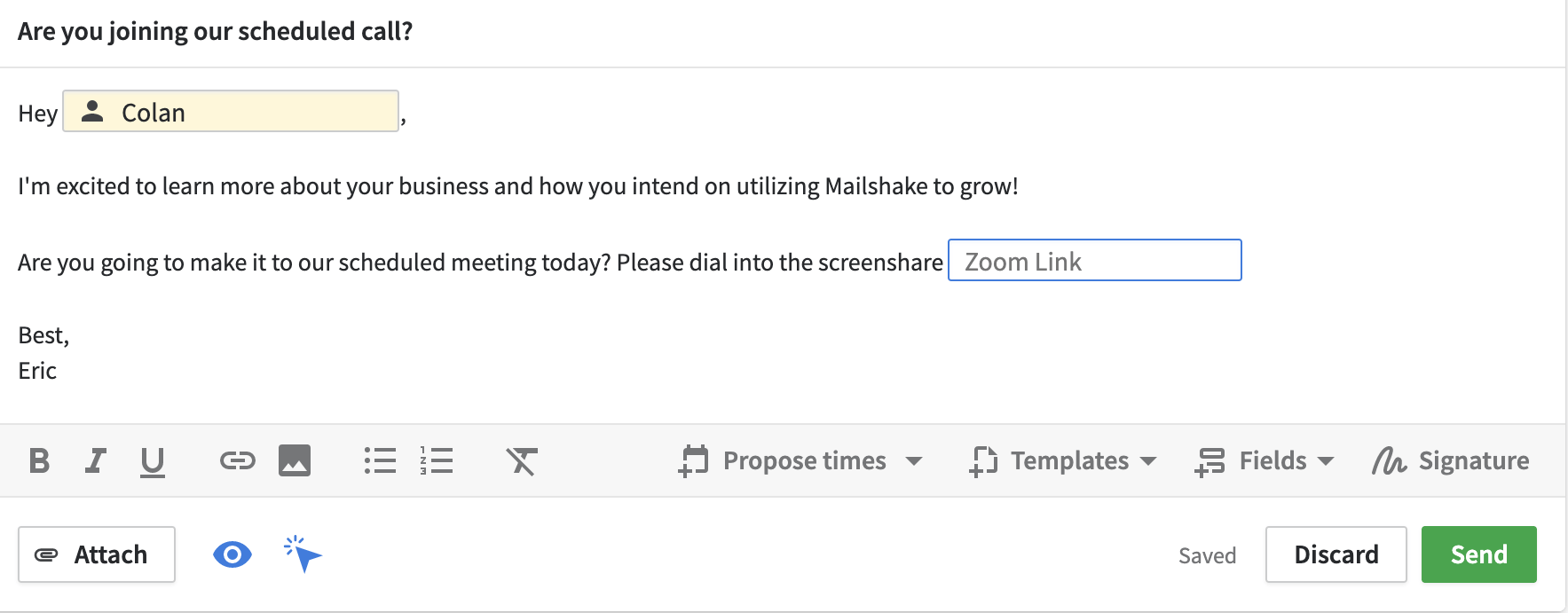 mailshake are you joining our call